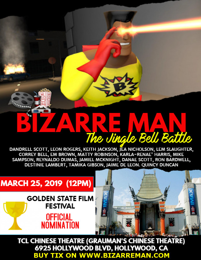 NEWS: Bizarre Man Earns Nomination and Hollywood Screening (3-25-2019)