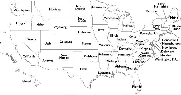 Usa Map With States Black And White.Maps Of United States Of America Watch Usa State Maps With City