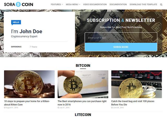 Template Blogspot tài chính Sora-Coin