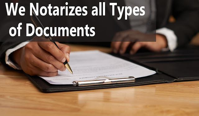 Notarizes Documents