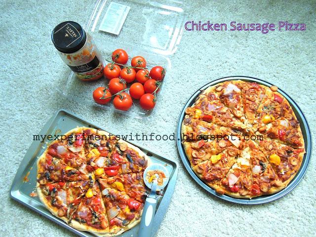 Homemade Chicken Sausage Pizza