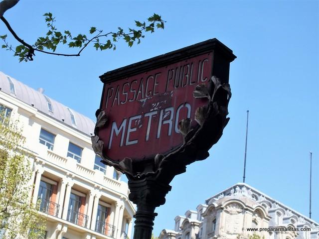 metro de París y tipos de billetes
