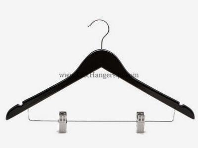 Wooden Combination Hanger WCOH100B Black