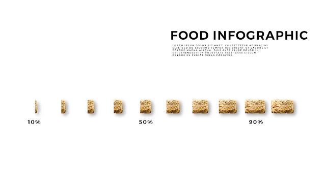Food Infographic Elements for  Powerpoint Template with Sliced Bread to Present Chart and Data