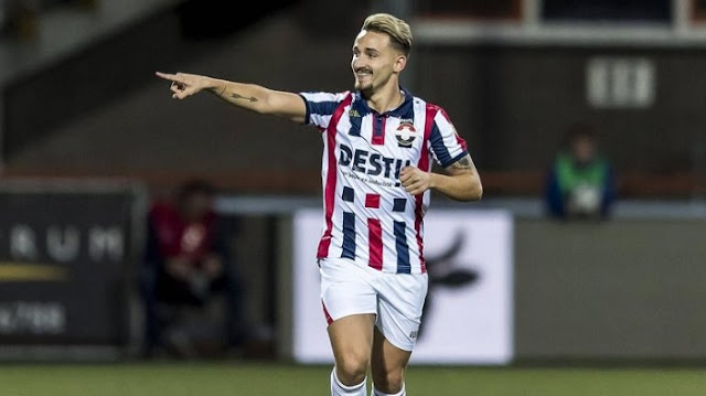 Albanian player Donis Avdiaj scores two goals within 6 minutes in Dutch Cup