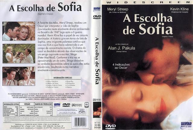 Capa DVD A Escolha de Sofia