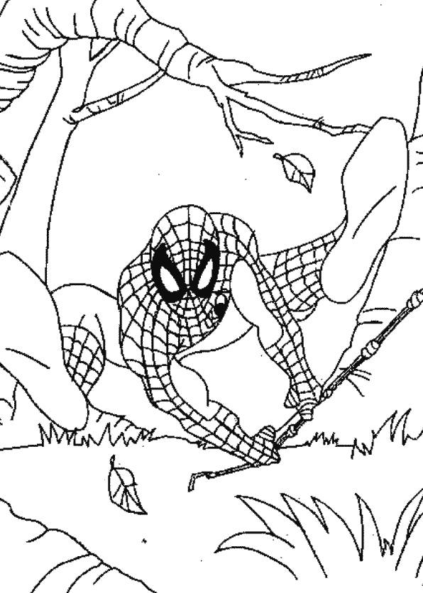Coloriage enfant spiderman liberate - Coloriage personnage spiderman ...