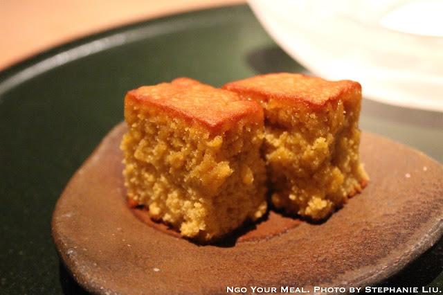 Castella Cake (Japanese Honey Cake) with Mystery Ice Cream at NAOE