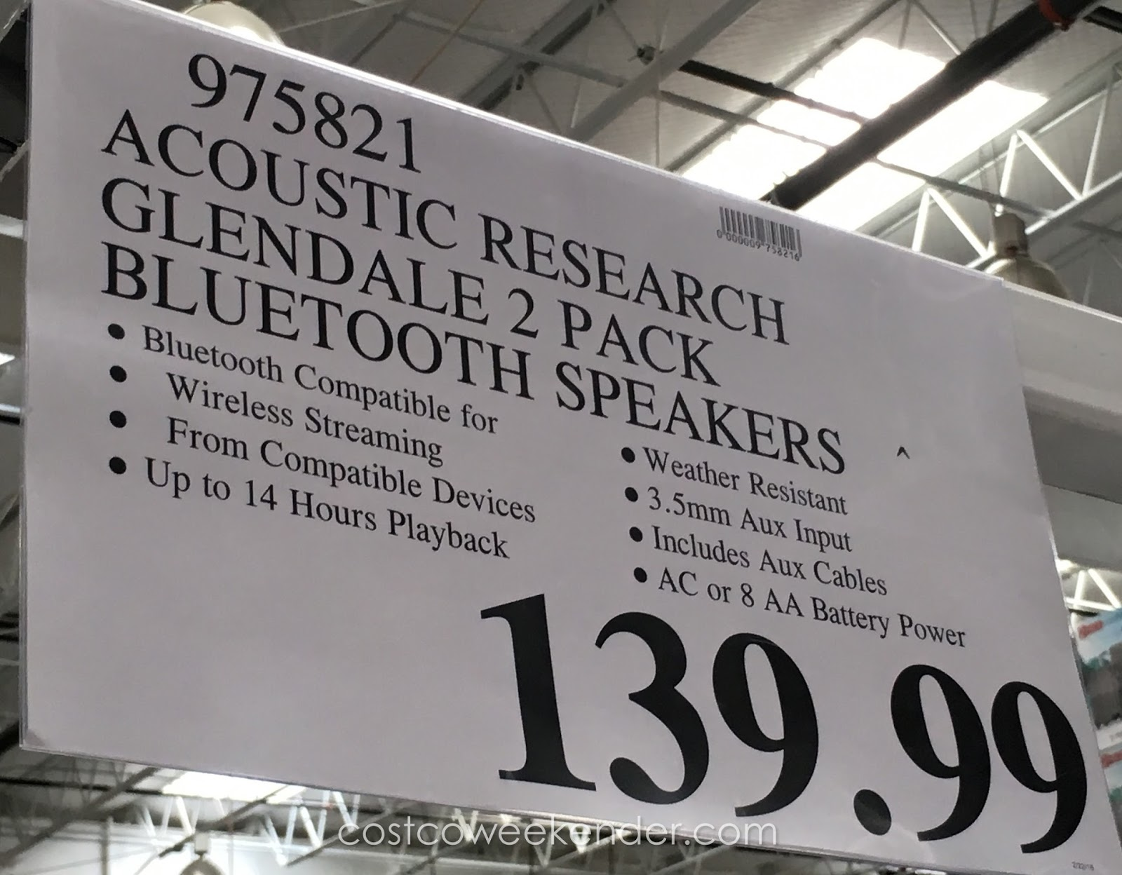 Deal For The Acoustic Research Glendale Bluetooth Speakers At Costco
