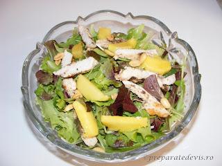 Salata cu pui si mango retete culinare,