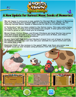 Inilah Fitur Update Terbaru Harvest Moon Seed of Memories