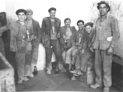 Trabajadores de la Mina La Camocha