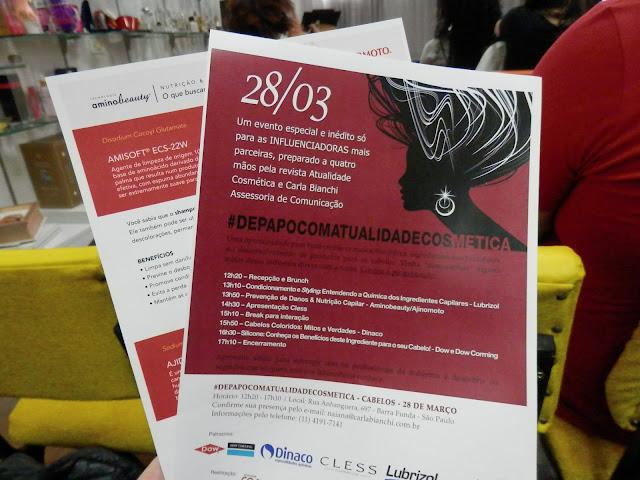Tudo sobre o evento #DePapoComAtualidadeCosmetica - Cabelos