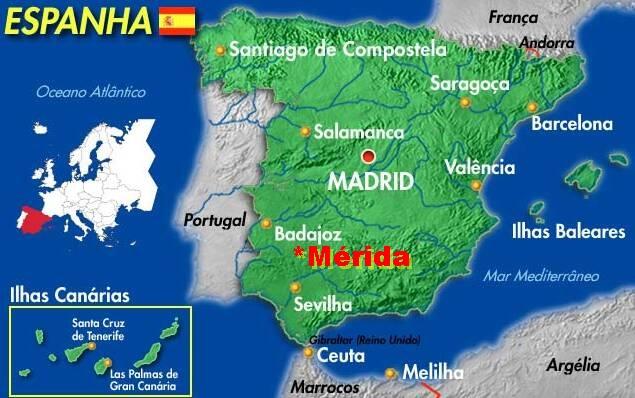 mérida espanha mapa Paletar: Mérida (Spain) mérida espanha mapa