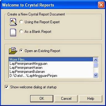 Membuat Laporan Dengan Crystal report di VB6