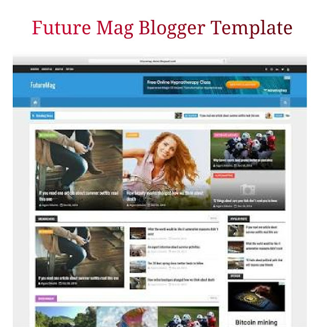Futuremag blogger template
