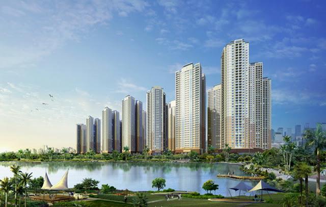 Phối cảnh tổng quan dự án chung cư The K Park Văn Phú