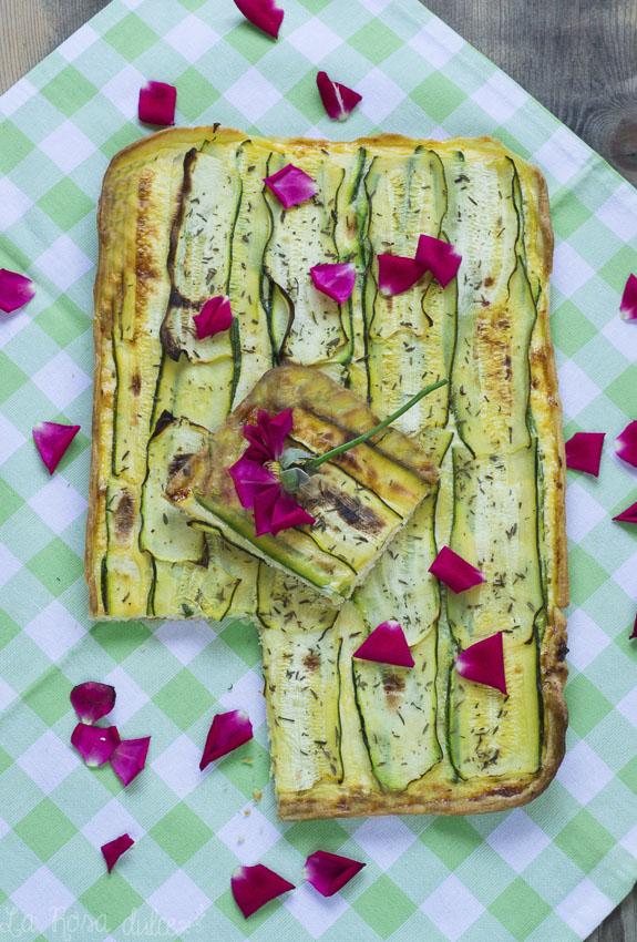 Quiche ligera de calabacín y queso fresco sin lactosa