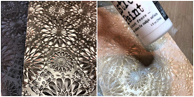 Mixed Media Techniques Tutorial by Sara Emily Barker for The Funkie Junkie Boutique https://frillyandfunkie.blogspot.com/2019/01/saturday-showcase-easy-mixed-media.html Tim Holtz Sizzix Alterations Ice Flake 2