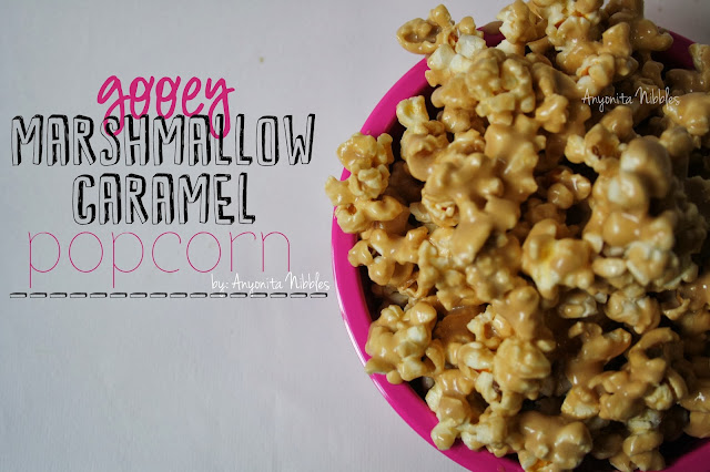 Caramel corn gets a marshmallow makeover in this easy recipe from www.anyonita-nibbles.com