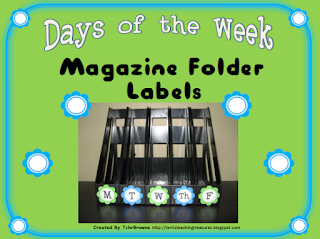 https://www.teacherspayteachers.com/Product/Days-of-the-Week-Magazine-Folder-Labels-Turquoise-and-Lime-Green-307033