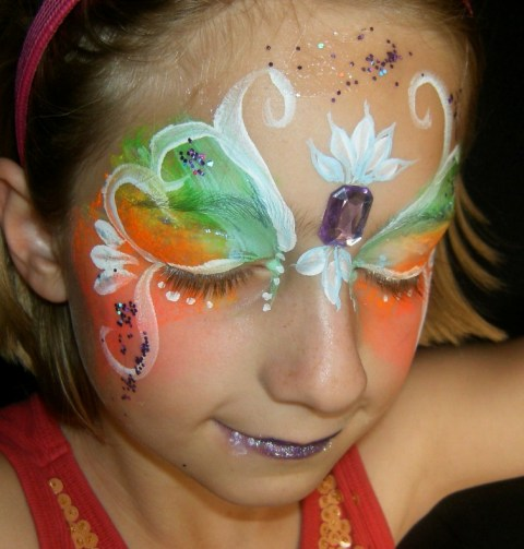 Fairy Butterfly Face Paint