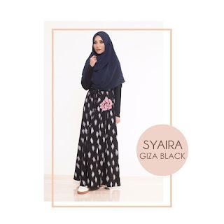 Gamis Amima Syaira Dress Giza Black
