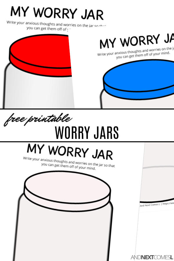 Free Printable Worry Jars | And Next Comes L - Hyperlexia ...