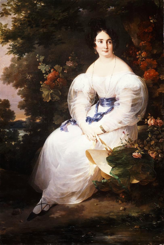 Jeune Femme Assise à l'Ombre d'un Arbre (1830), Hortense Haudebourt-Lescot