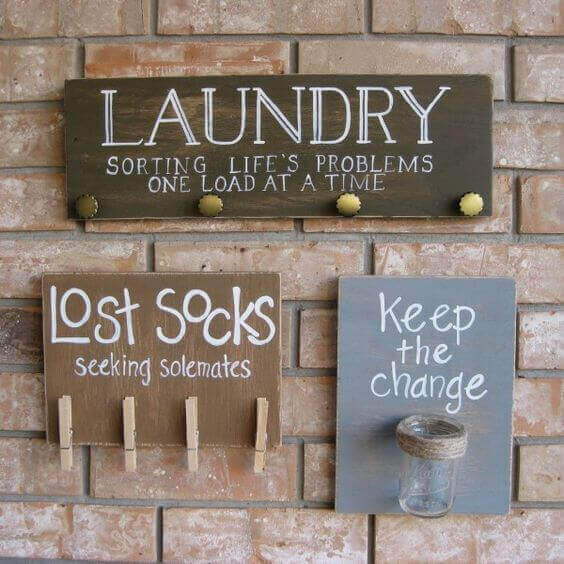 I also like the idea of putting a piggy bank in the laundry room for lost change.