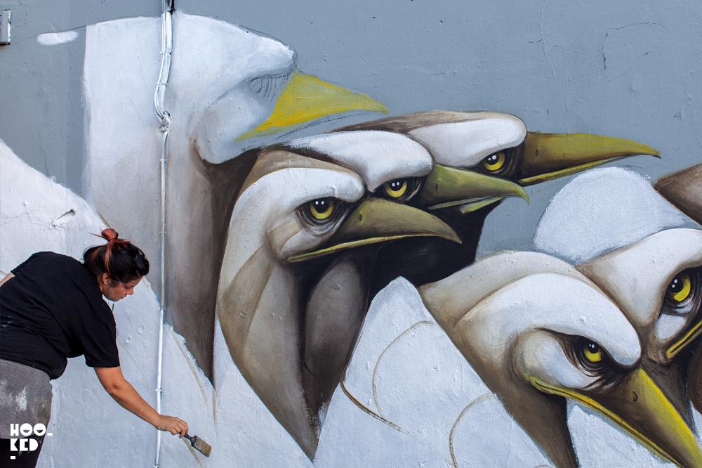 Puerto Rican artist Ana Marietta's London Mural