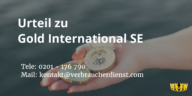 Gold International SE | Urteil
