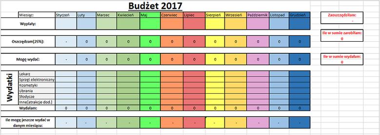 """Kliknij, by przejść do dysku google i pobrać """"Excel - budżet 2017""""!"""