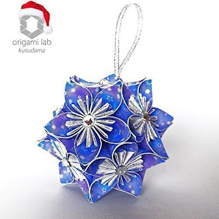 Kusudama Christmas Ball con Swarovski Elements