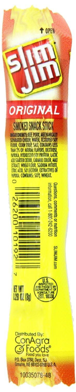 100 Pack 0.28oz Slim Jim Smoked Snack Sticks $12.45 + Free ...