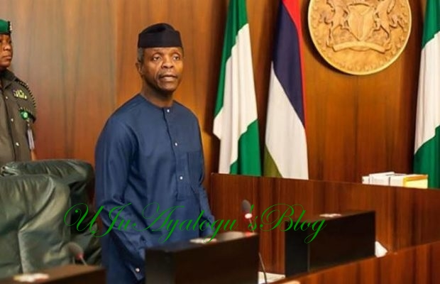 Osinbajo back from London, to preside over FEC meeting by 11am