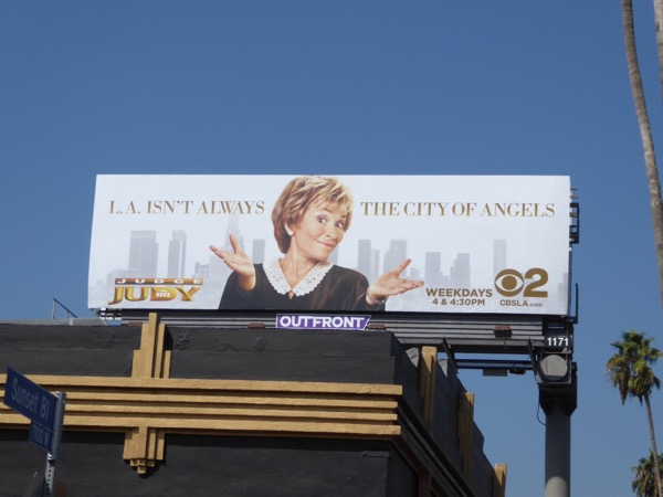 Judge Judy LA isnt always City Angels billboard