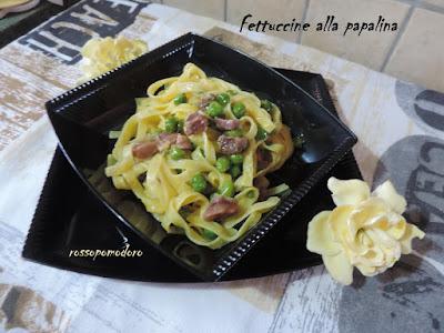 Fotografia del piatto Fettuccine alla papalina di Fabiola Falgone