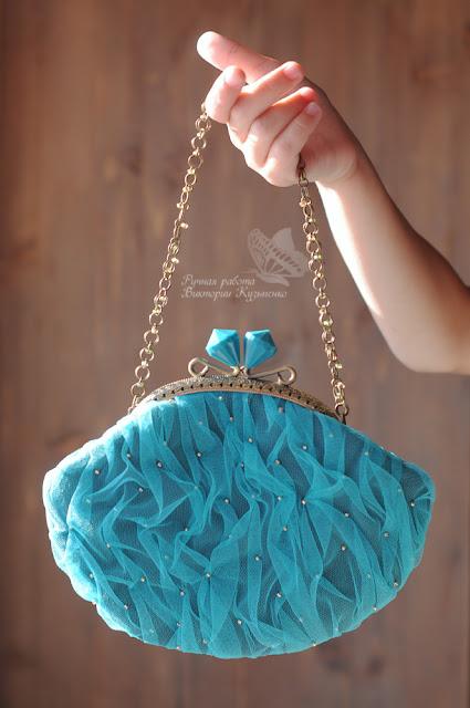 Бирюзовая сумочка