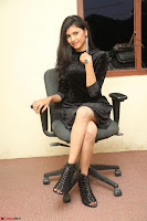 Mounika in a velvet short black dress for Tick Tack Movie Press Meet March 2017 016.JPG