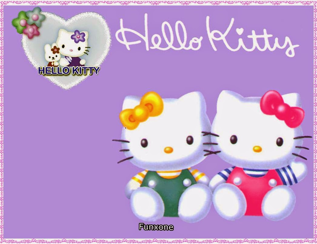 GAMBAR HELLO KITTY WALLPAPER UNGU Gambar Hello Kitty Lucu