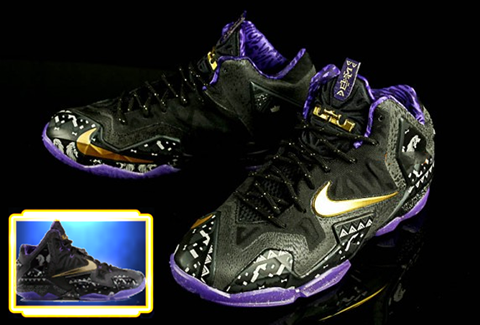 Lebron 11 Shoes Christmas NBA 2K14 Nike LeBron 1...