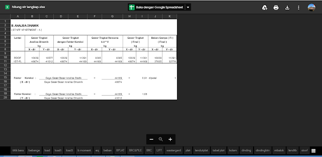 Perhitungan Struktur Beton Bangunan Gedung Lengkap Format Excel