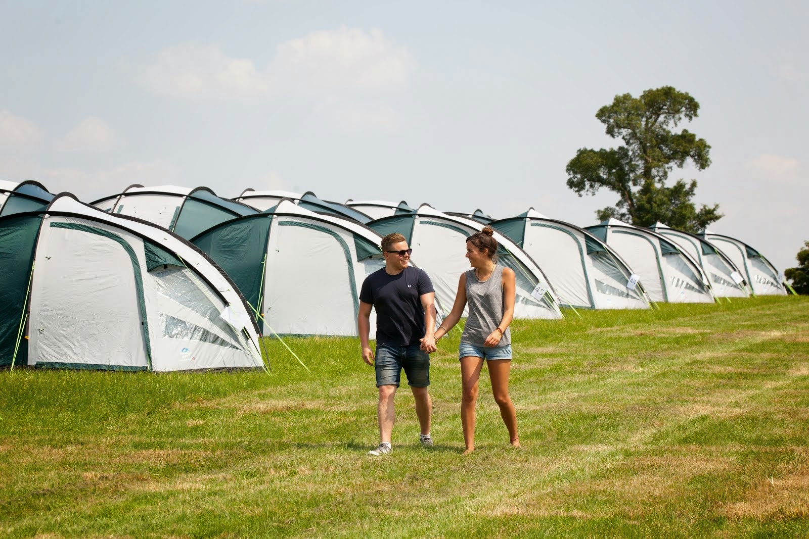 Camping F1 Pre Erected Tent Hire