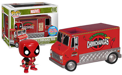 New York Comic Con 2015 Exclusive Marvel's Red Chimichanga Truck Pop! Ride with Deadpool Pop! Vinyl Figure by Funko