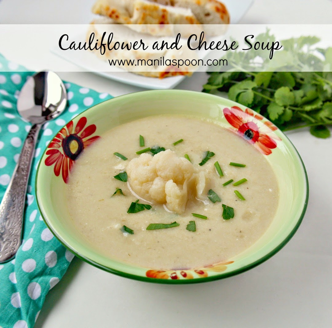 Cauliflower, Cheese, Soup