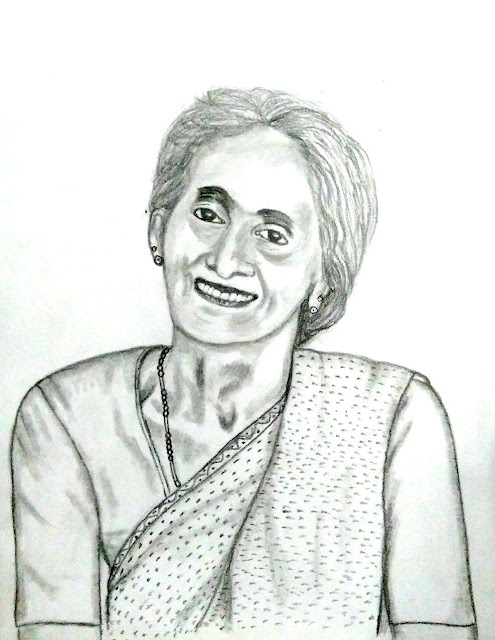 PENCIL DRAWING - Geetha Kesavan