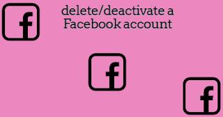 Deleting/Deactivating A Facebook Account