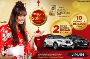 Cadastrar Promoção Jin Jin Amuleto da Sorte 2017 2018 Carros 5 Mil Reais