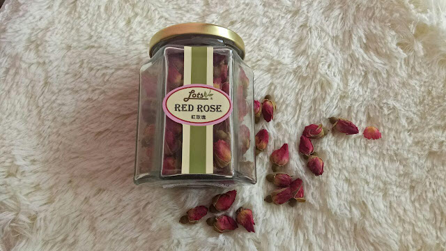 pink rose buds tea